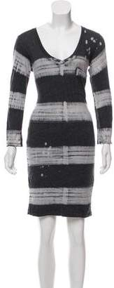 Raquel Allegra Tie-Dye Knit Mini Dress