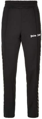 Palm Angels Studded Leather Stripe Sweatpants