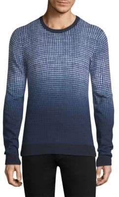 Michael Kors Ombre Gingham Cotton Sweater