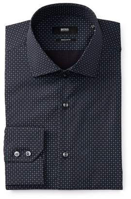 BOSS Gordon Long Sleeve Floral Regular Fit Dress Shirt