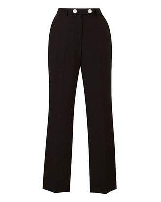 Fashion World Tailored Straight Leg Trousers Petite