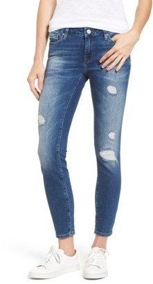 Women's Mavi Jeans Adrianna Ripped Skinny Ankle Jeans $128 thestylecure.com