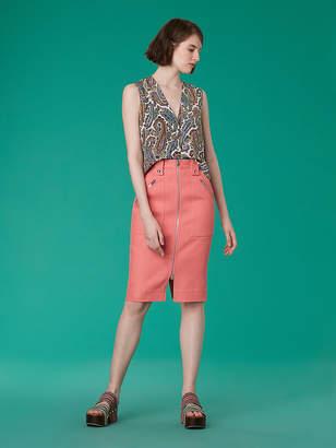 Diane von Furstenberg Sleeveless V-Neck Shirt