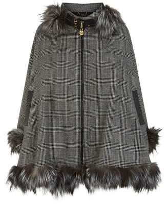 Holland Cooper Cashmere and Fur Cape
