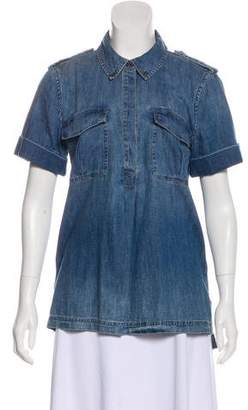 403f84c9ad2bb Equipment Short Sleeve Denim Shirt