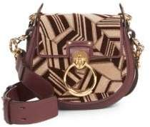 Chloé Small Tess Geometric& Leather Saddle Bag