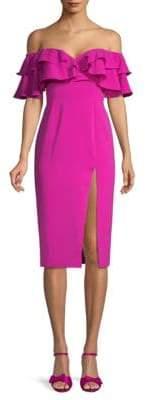 Jay Godfrey Prairie Midi Sheath Dress