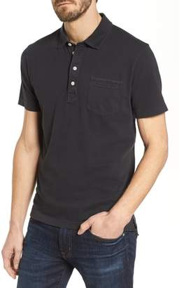 Billy Reid Pensacola Slim Fit Garment Dye Polo