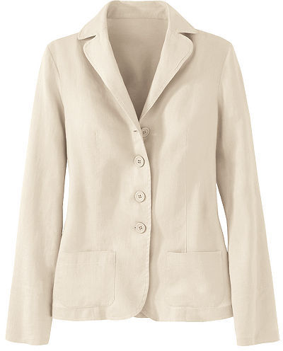 Signature Washed Linen Collection: Boyfriend Blazer
