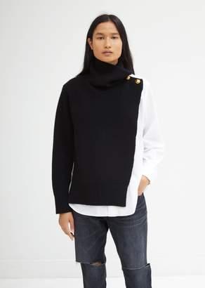 Sacai Sweater Shirt Mixed Turtleneck Top