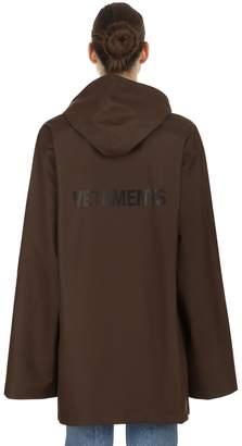 Vetements Logo Printed Rubberized Raincoat