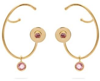 Ana Khouri Lily Sapphire & 18kt Gold Earrings - Womens - Pink