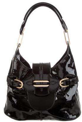 Jimmy Choo Patent Leather Tulita Hobo Black Patent Leather Tulita Hobo