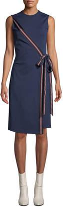 Diane von Furstenberg Lindsey Tie-Front Sleeveless Cocktail Dress