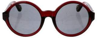 Ann Demeulemeester Round Tinted Sunglasses