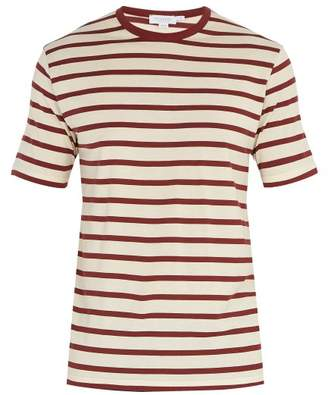 Sunspel - Crew Neck Cotton Jersey T Shirt - Mens - Burgundy Multi
