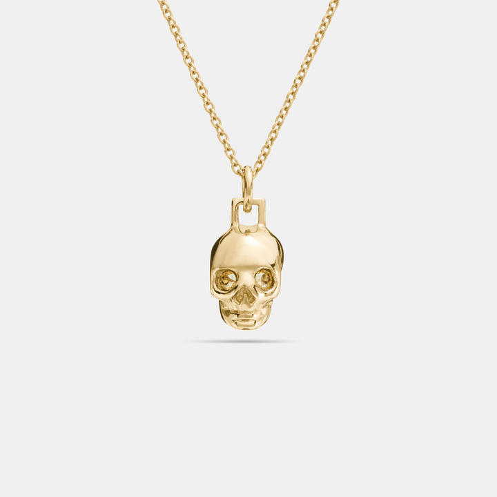 Coach   COACH Coach Mini Skull Necklace