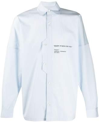 Poliquant slogan print shirt