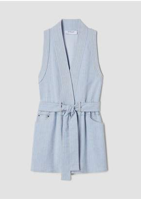 Derek Lam 10 Crosby Sleeveless Belted Vest Dress