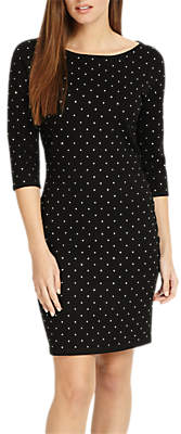 Phase Eight Helene Heat Fix Shift Dress, Black