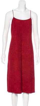 Theory Suede Midi Dress