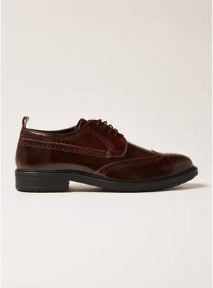 Topman Mens Red Burgundy Leather Baron Brogues