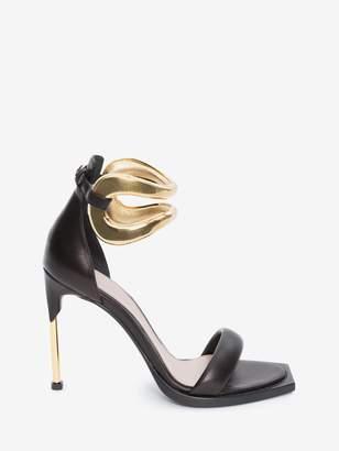 Alexander McQueen Pin Heel Link Sandal