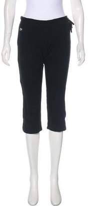 Lacoste Mid-Rise Straight-Leg Pants