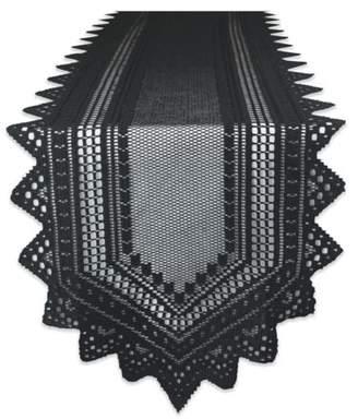 "Nordic Design Imports Lace Tablerunner - Black - 14 X 72"""