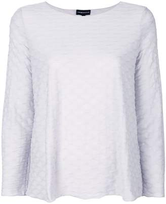 Emporio Armani textured jumper