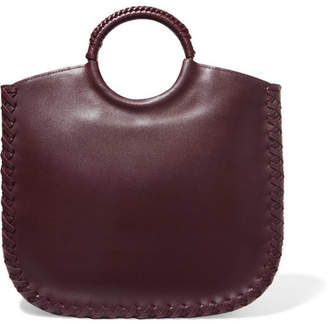 21d5cc80609 Ulla Johnson Amaia Whipstitched Leather Tote - Burgundy