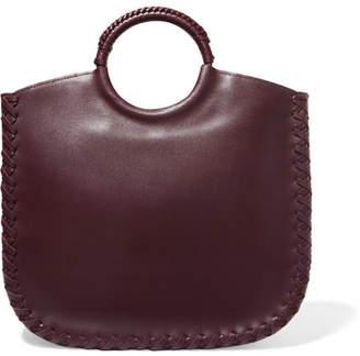 Ulla Johnson Amaia Whipstitched Leather Tote - Burgundy