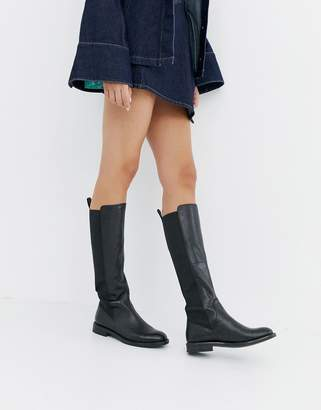 ba31aaf2f371 at ASOS · Vagabond Amina black leather knee high boots