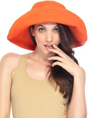 AshopZ Women's Cotton Foldable Floppy Wide Brim Summer Sun Bucket Hat