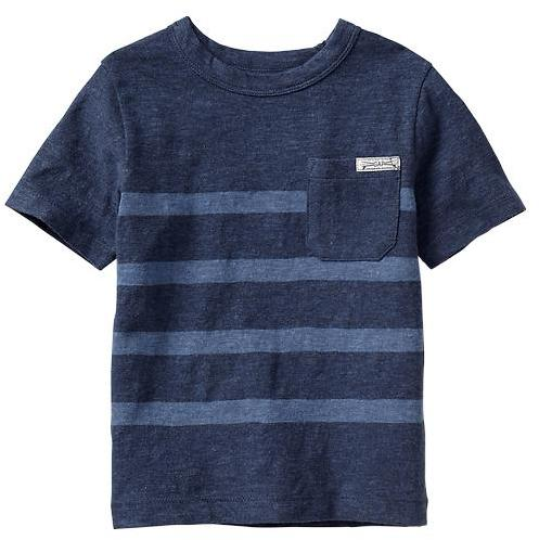 Gap Engineer-stripe pocket tee