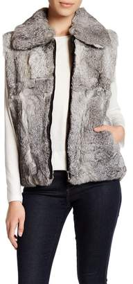 Surell Genuine Rabbit Fur Vest