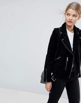 Selected Suede Biker Jacket