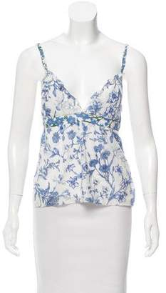 Burberry Floral Print Sleeveless Top