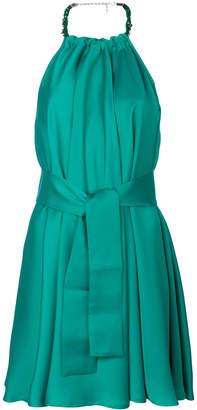 Pinko tie waist halter dress
