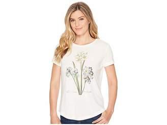 Lauren Ralph Lauren Floral Linen-Blend T-Shirt Women's Clothing