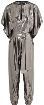 Norma Kamali Rectangle Stretch-lamé Jumpsuit - Silver