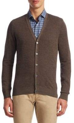 Saks Fifth Avenue COLLECTION Merino V-Neck Cardigan