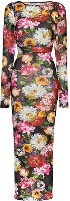 Dolce & Gabbana floral print bodycon dress