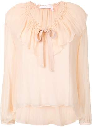 See by Chloe ruffle-front blouse