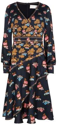 Peter Pilotto Printed Silk Satin Dress