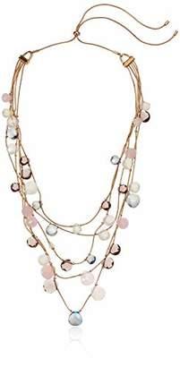 Anne Klein Women's Gold Tone Stone Necklace