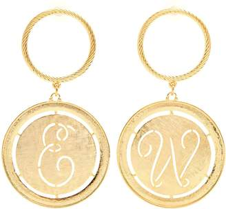 Emilia Wickstead Glenda gold-plated hoop and disc-drop earrings