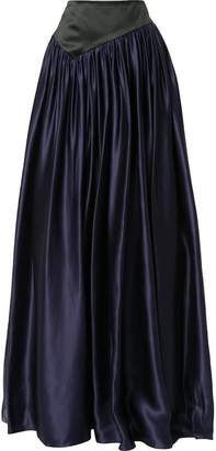 Lanvin long satin skirt