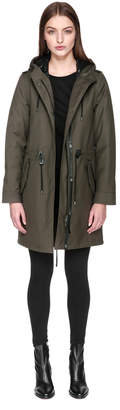 Mackage RENINA 2-in-1 twill trench with removable down lining