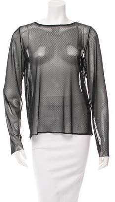 Anthony Vaccarello Sheer Long Sleeve Top w/ Tags